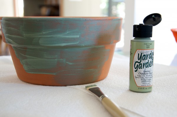 Painting Terra Cotta Pots with Yard Garden Acrylic