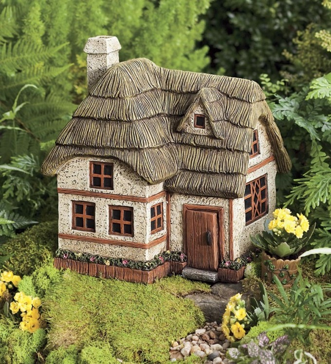 Two-Story Fairy Garden Cottage | Where to Buy Miniature and Fairy Garden Houses – Part I | Lush Little Landscapes