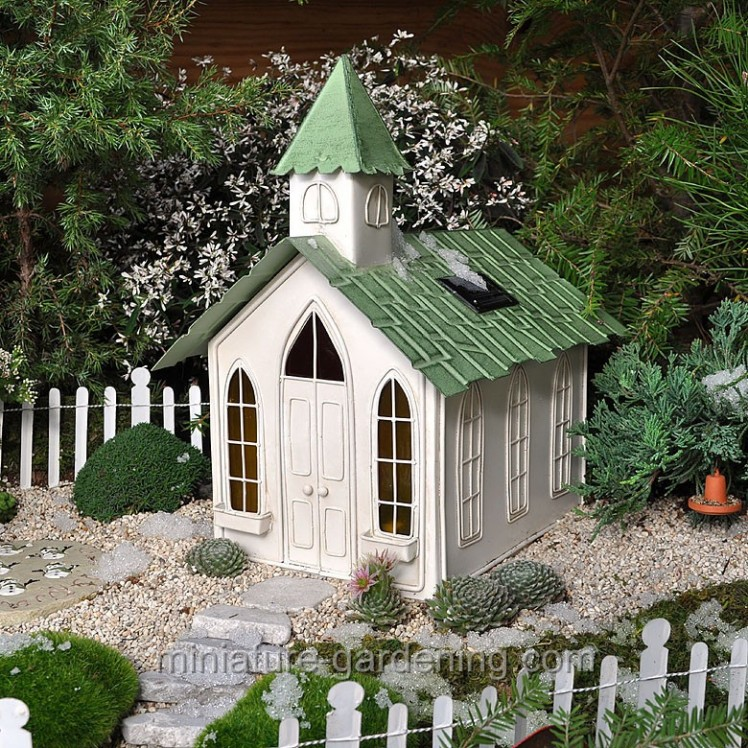 Solar Chapel | Where to Buy Miniature and Fairy Garden Houses – Part I | Lush Little Landscapes
