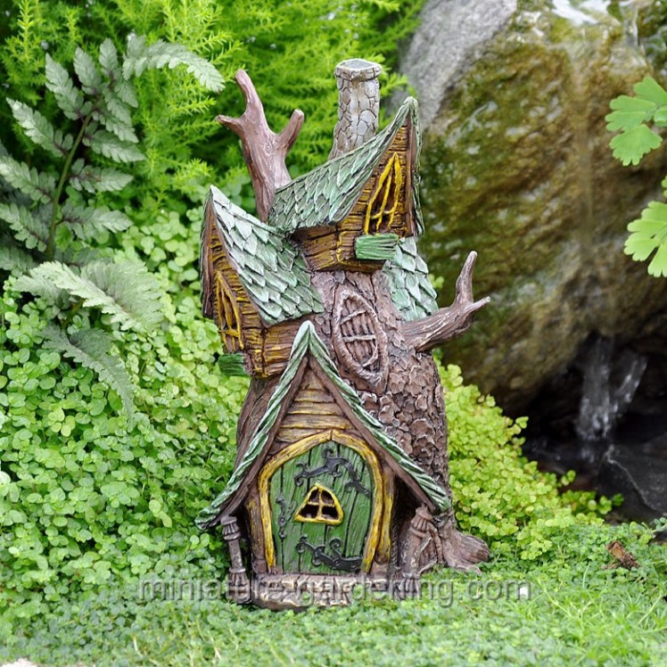 Tree House | Where to Buy Miniature and Fairy Garden Houses – Part I | Lush Little Landscapes