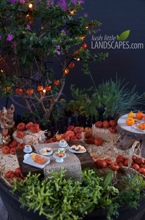 Halloween Miniature Fairy Garden at Lush Little Landscapes