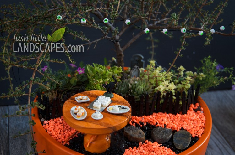 Halloween Orange and Black aquarium gravel path | Lush Little Landscapes