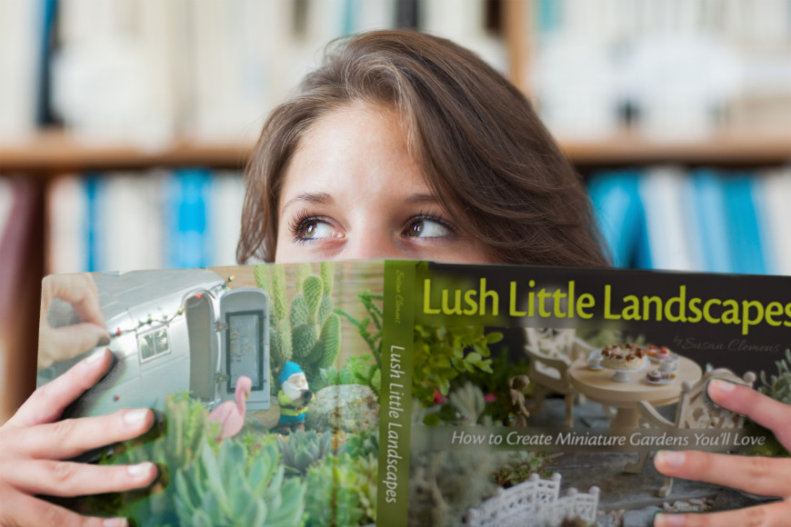 Reading Lush Little Landscapes Miniature Gardening Book